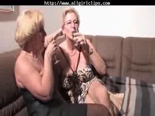 dike grandmas homosexual woman act dike chick on