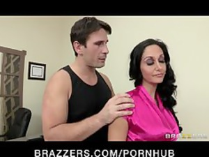 super busty executive ava addams massaged and