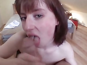 naughty lady fellatio and sperm