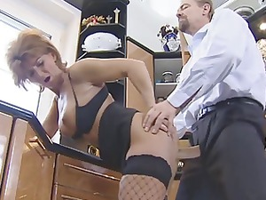 hot redhead german grown-up gets fucked
