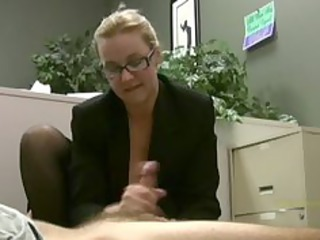 employee takes masturbated by his busty girl boss