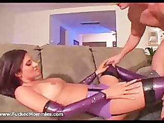 brunette lady in latex gstring lick and copulate