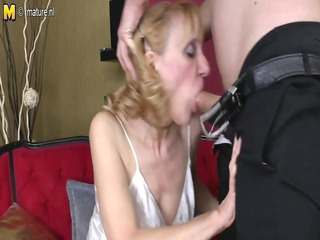 grandmother takes drilled by her toyboy