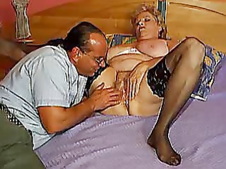 bbw elderly with big tits have fun