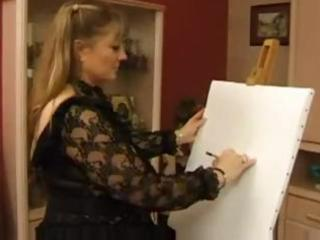 fat mature pale is very thankful her art has