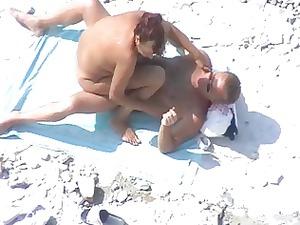 various nice grown-up duo on the beach