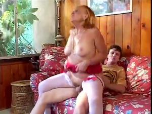 horny grandmother sucks, fucks her grandson