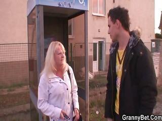 horny granny into nylons drives penis
