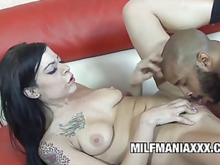 tattooed milf wills brown dick