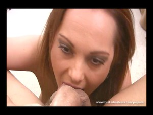 fresh lady rimming blow job and cum swallow