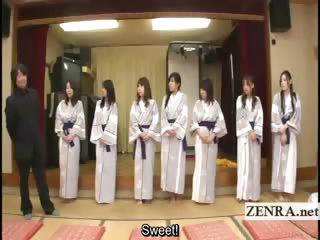 subtitled bunch  of japanese woman expose for