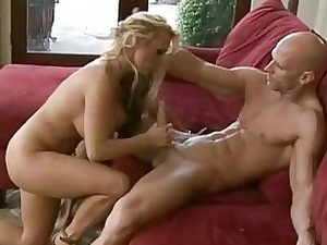 slutty bleached milf into high heels rides on