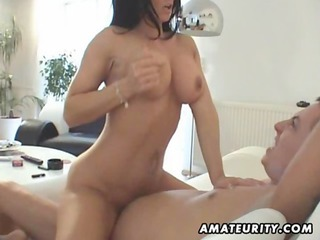 naughty fresh woman sucks and copulates with