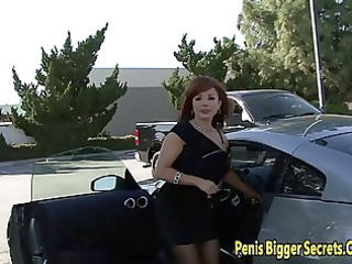 redhaired milf pierced on her big bottom