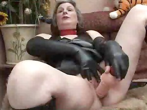 grown-up inside fetish wear playing