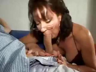 fresh brunette woman vanessa videl smokes her