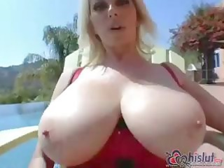 my slutty bleached mom has huge tits and loves to