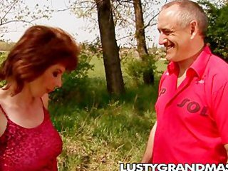 outdoor older  gangbanged in hd 720p