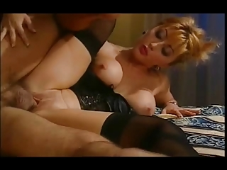 awesome eastern  housewife into satin basque &;