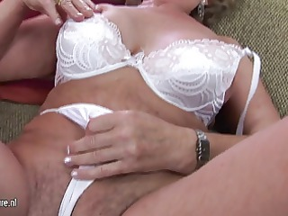 mature mother franscina drives dildo uneasy  and