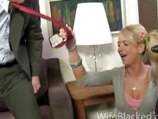 cuckold fellatio woman licks huge dark libido