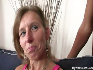 daughter watches hubby drill her granny mom