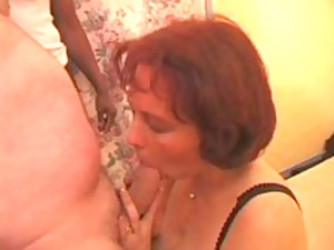 french swingers, a girl has sex with several men