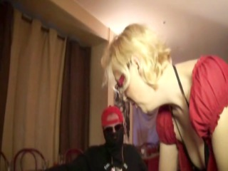 gangbanging christiana, a french mature in