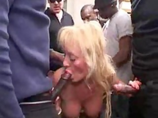 french busty blonde cougar gangbang