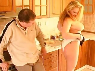 naughty fresh lady cock sucking titjob and cum