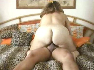 plump woman driving cock