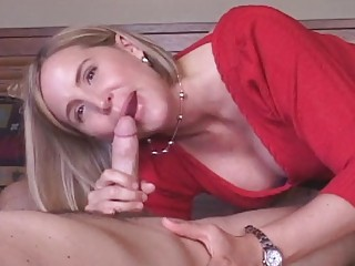 older  housewife takes sperm