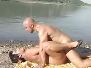 lady at beach