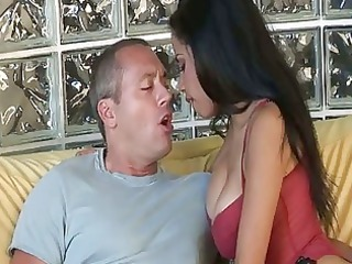 beautiful latino lady eats cock and obtains