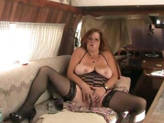 bbw elderly bangs butt with vibrator during