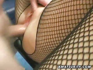 inexperienced lady  anal with sperm