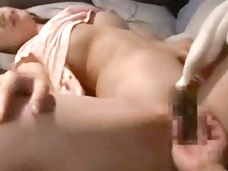 horny woman pierced by lover and man sleep on the