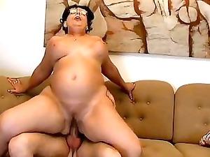 large boobs moma obtains gang-banged hard