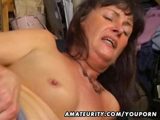 young lady bottom and blowjob with facial white