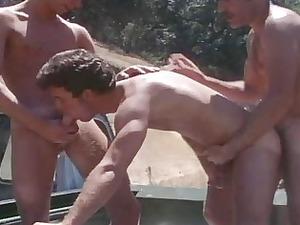 vintage mature men gang-banging outdoor
