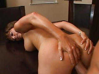 sexy naughty brunette lady taking her vagina