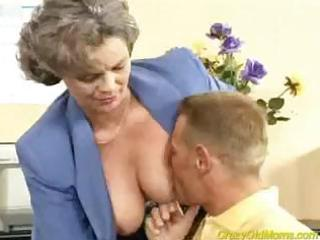 horny elderly lady acquires libido banged into