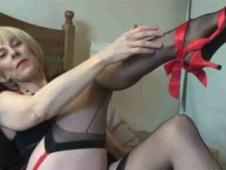 awesome lady nylons play
