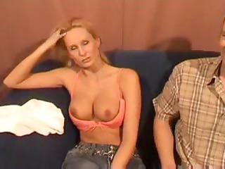 blonde dutch woman with pretty bossom obtains