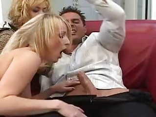 blond amateur and her extremely impressive momma