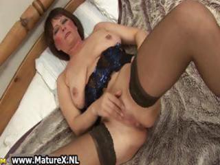 horny elderly lady into beautiful brief