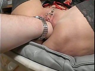 elderly bitch acquires fisted and vibrator fucked!