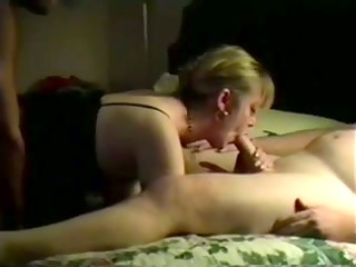 my slut lady double fucked on camera