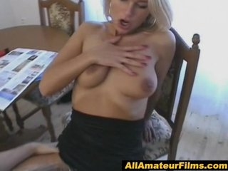 bleached extremely impressive mature babe