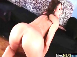 milf enjoy huge dark hard cock inside every hole